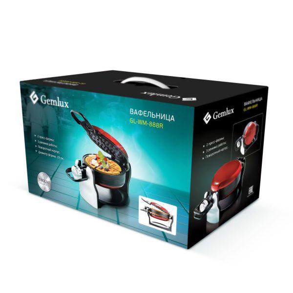 Вафельница для толстых вафель GEMLUX GL-WM-888R